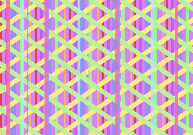 Abstrakter Beschaffenheitshintergrund mit vielen farbigen Linien stock abbildung