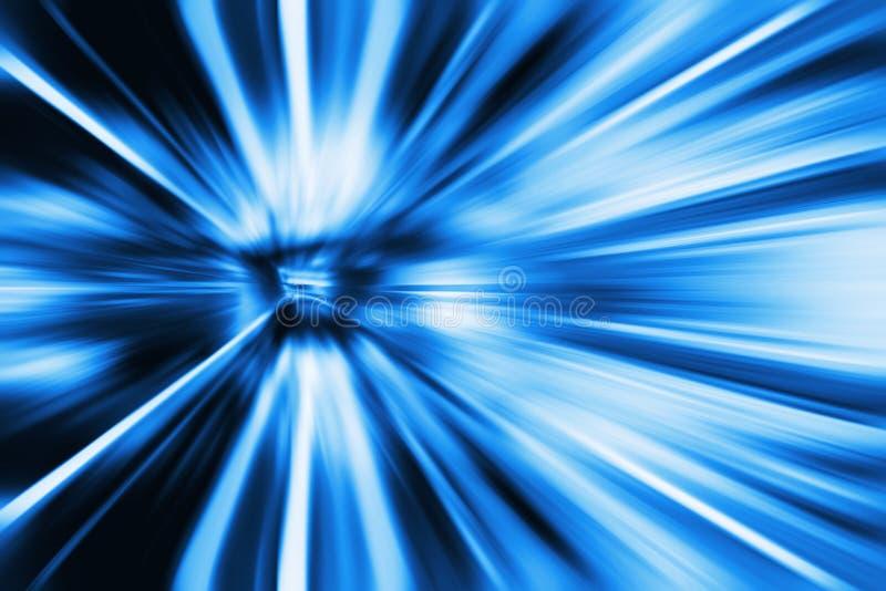 Abstrakter beweglicher Geschwindigkeitshintergrund mit Linien in der Bahndrehungsform - Bewegung von futuristischem Blauer Ton lizenzfreie stockfotografie