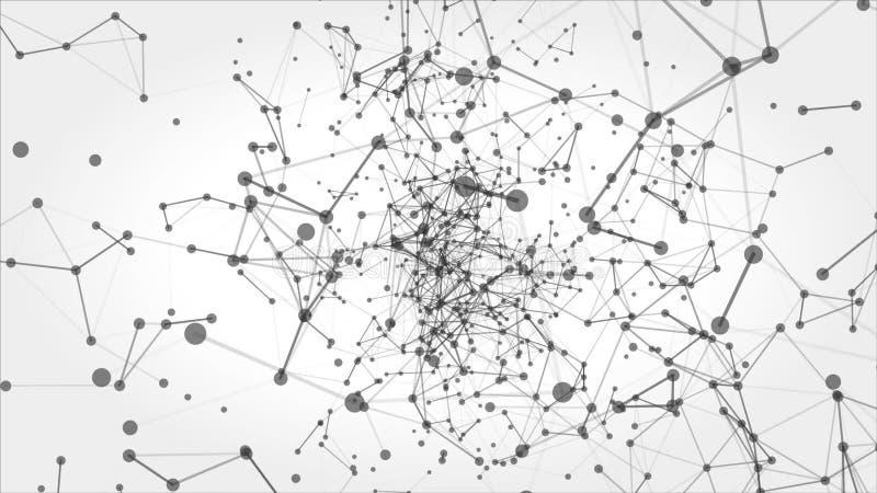 Abstrakter Bewegungs-Hintergrund Mit Punkten Und Linien Regelkreis ...