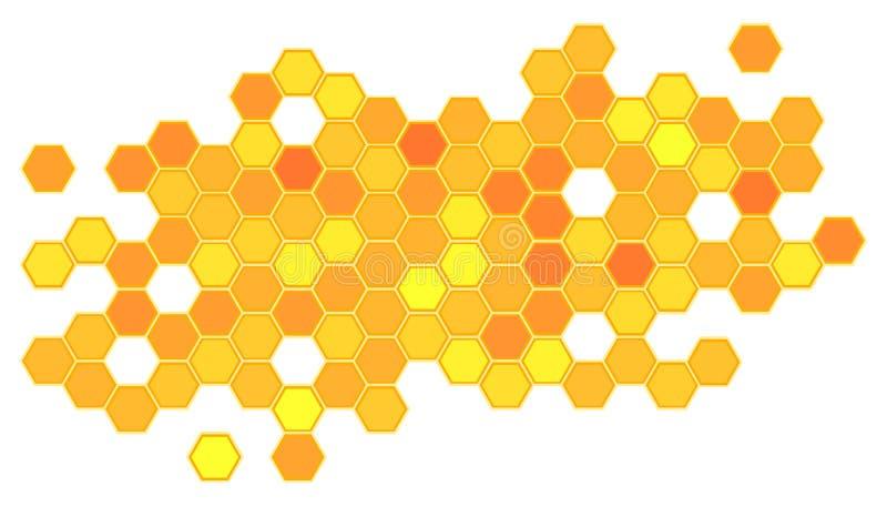 Abstrakter Bienenwabenhintergrund lizenzfreie abbildung
