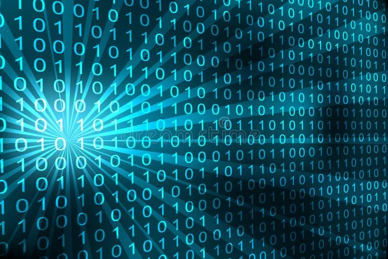Abstrakter binärer Code lizenzfreie abbildung