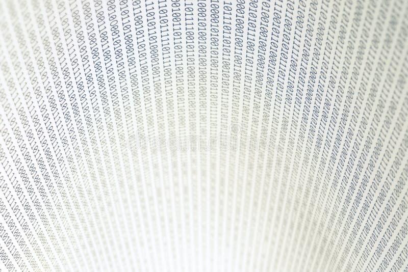 Abstrakter binärer Code, horizontal stockfoto