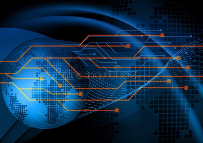 Abstrakter blauer digitaler Hintergrund lizenzfreie abbildung