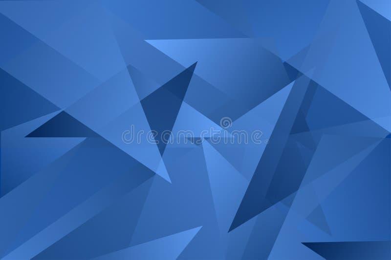 Abstrakter blauer Dreiecküberlagerungs-Vektorhintergrund lizenzfreies stockbild