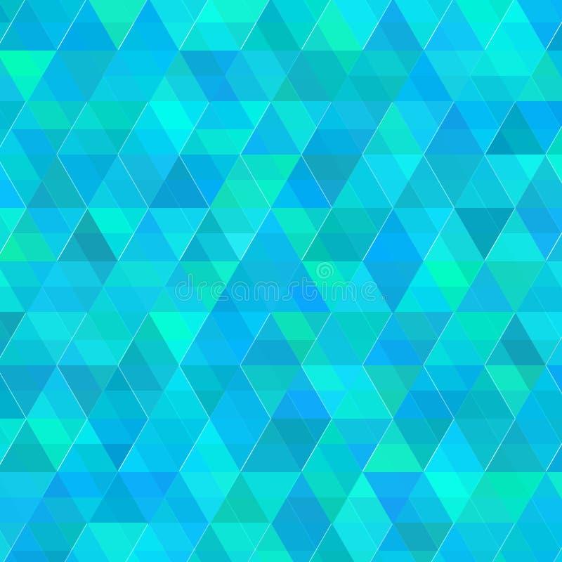 Abstrakter blauer Dreieckvektorhintergrund stockfotografie