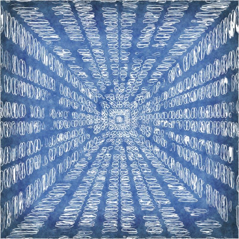 Abstrakter blauer endloser Hintergrund der Wissenschaft oder der Technologie vektor abbildung