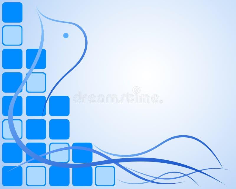 Abstrakter blauer Friedenshintergrund vektor abbildung
