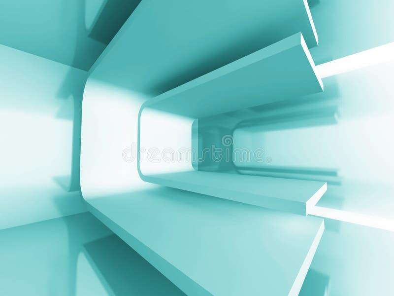 Abstrakter blauer futuristischer Architektur-Hintergrund vektor abbildung