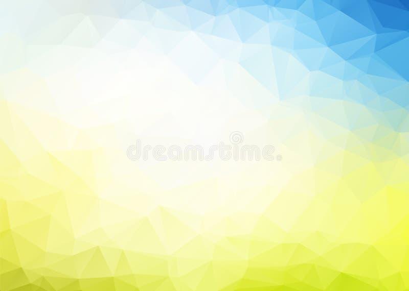 Abstrakter blauer gelber Hintergrund des Vektors vektor abbildung