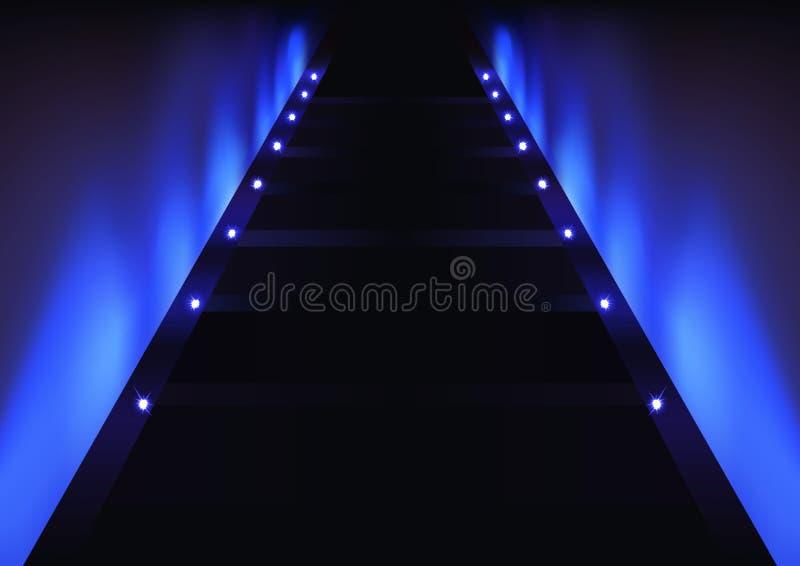 Abstrakter blauer Glühen-Hintergrund stock abbildung