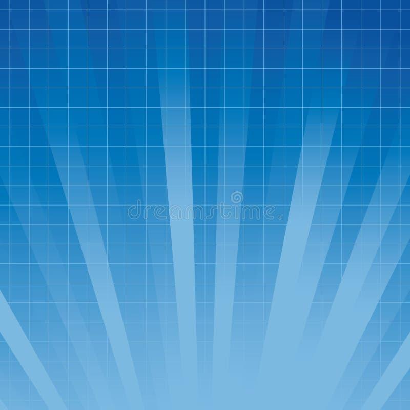 Abstrakter blauer heller Hintergrund stock abbildung