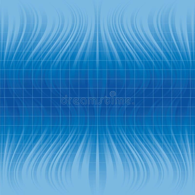 Abstrakter blauer heller Hintergrund - Tileable stock abbildung