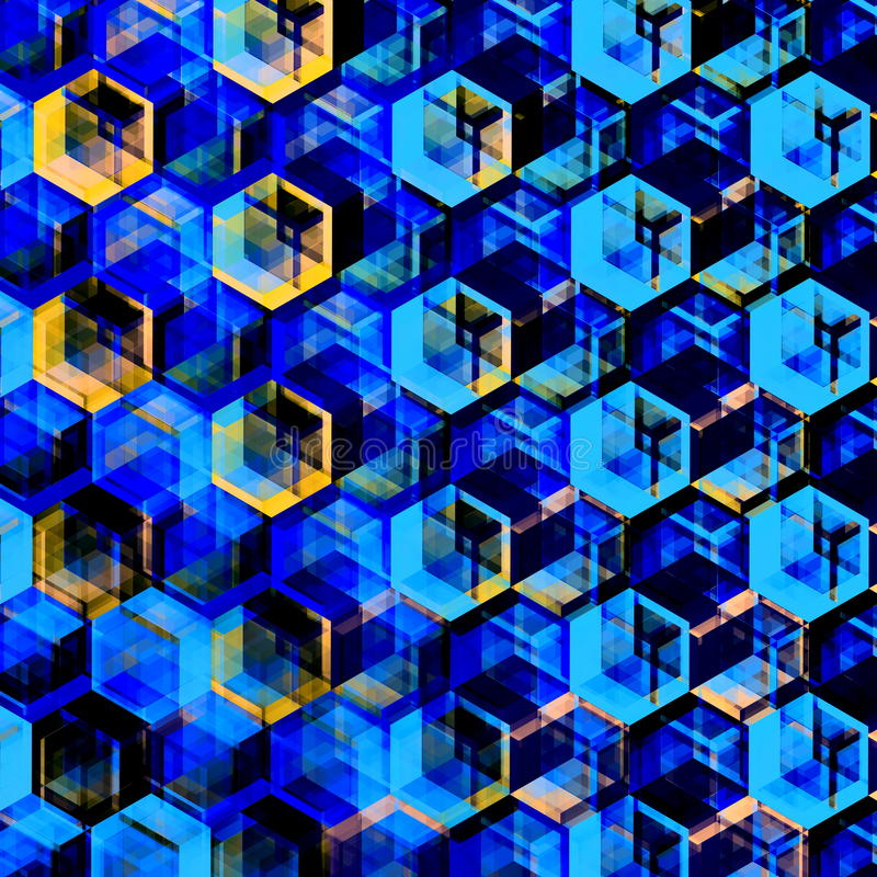 Abstrakter blauer Hexagon-Hintergrund Moderne sechseckige Farbillustration Geometrischer Art Texture vektor abbildung