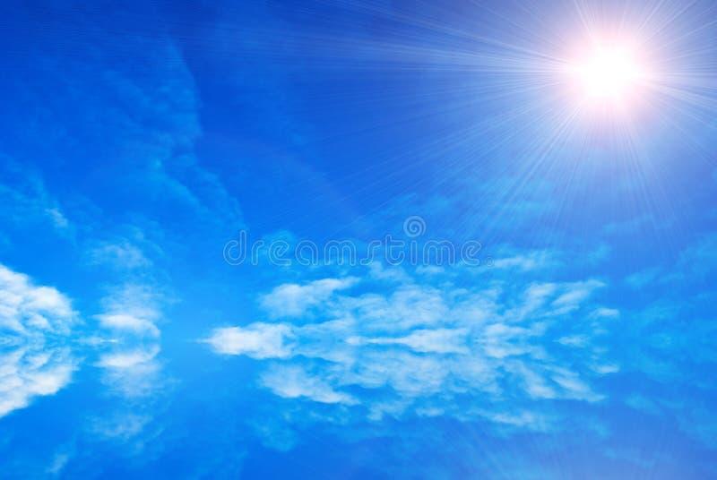 Abstrakter blauer Himmel stock abbildung