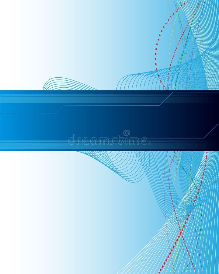 Abstrakter blauer Hintergrund lizenzfreie abbildung