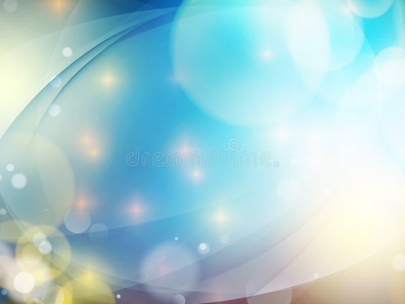 Abstrakter blauer Hintergrund ENV 10 stock abbildung