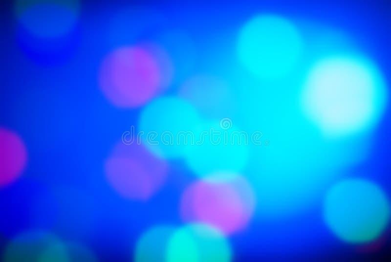 Abstrakter blauer Hintergrund mit bokeh stockfotos