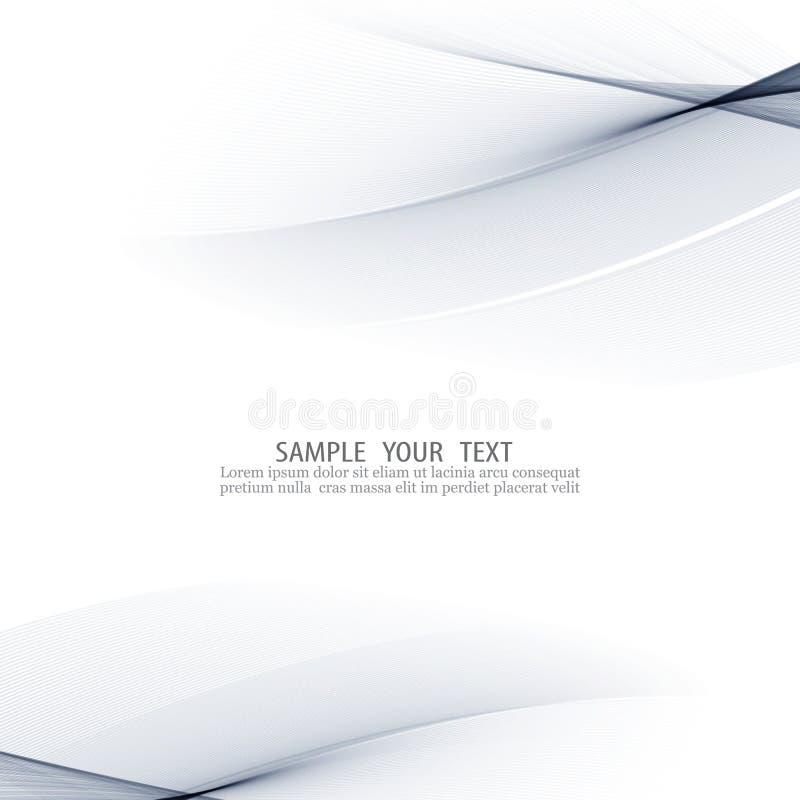Abstrakter blauer Hintergrund mit glatten Linien lizenzfreie abbildung