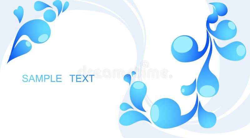 Abstrakter blauer Hintergrund mit Platz für Ihren Text vektor abbildung