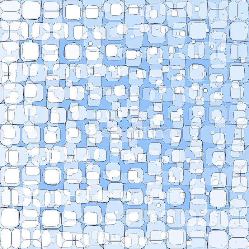 Abstrakter blauer Hintergrund mit Quadraten stock abbildung