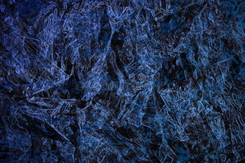 Abstrakter blauer Hintergrund oder dunkles Papier mit hellem Mittel-spotli lizenzfreie stockfotografie