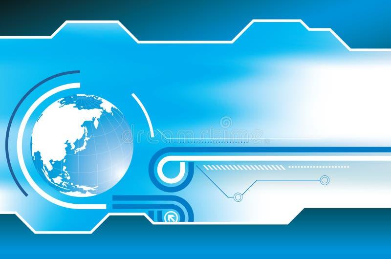 Download Abstrakter Blauer Kugel-Hintergrund Vektor Abbildung - Illustration von wissenschaft, hintergrund: 9097525