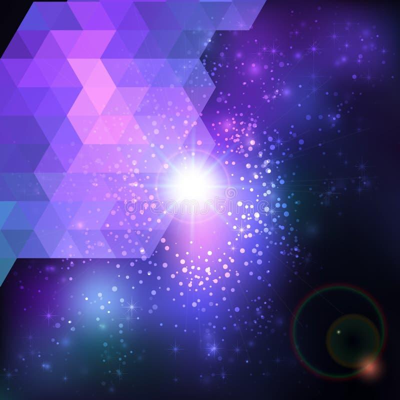 Abstrakter blauer Linseaufflackern-Technologiehintergrund. vektor abbildung