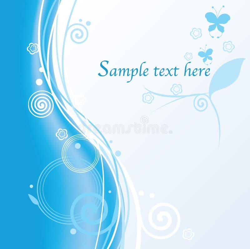 Abstrakter blauer mit Blumenhintergrund lizenzfreie abbildung