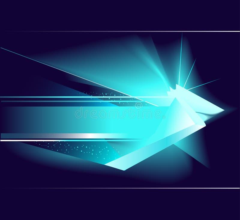 Abstrakter blauer Pfeil stock abbildung