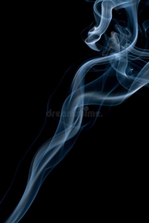 Abstrakter blauer Rauchhintergrund lizenzfreies stockfoto
