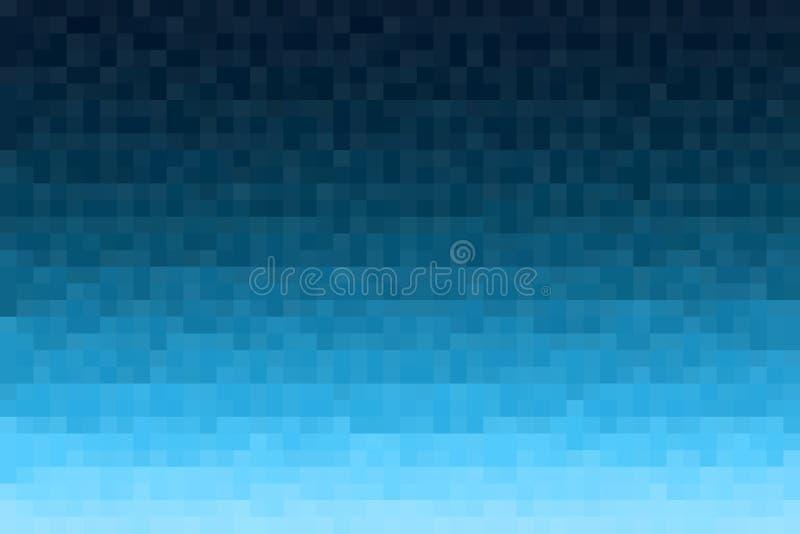 Abstrakter blauer Steigunghintergrund Gemasert mit quadratischen Blöcken des Pixels Mosaikmuster stock abbildung
