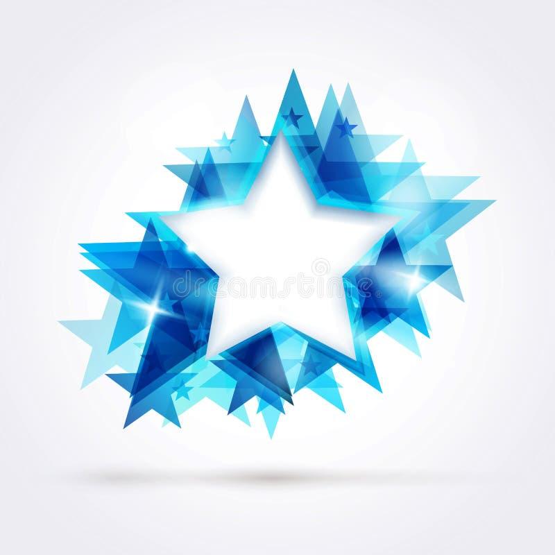 Abstrakter blauer Stern lizenzfreie abbildung