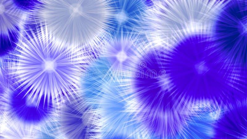 Abstrakter blauer Stern kreist Hintergrund ein vektor abbildung