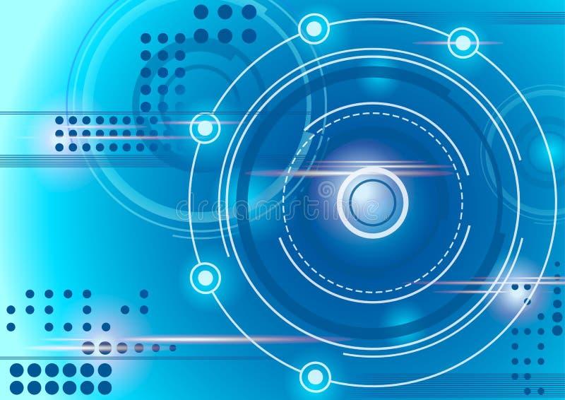 Abstrakter blauer Technologiehintergrund des Kreises lizenzfreies stockbild