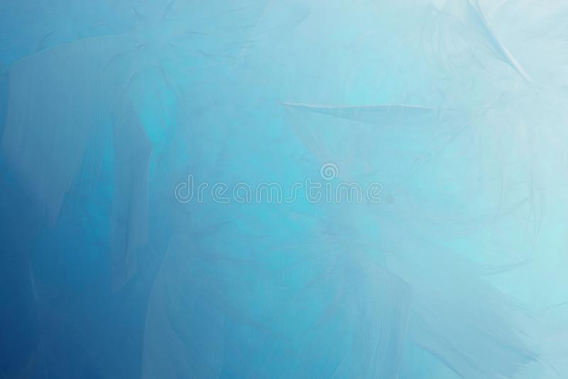Abstrakter blauer Tonfederhintergrund Art-Pastellbeschaffenheit der flaumigen Federmodeentwurfsweinlese böhmische stock abbildung