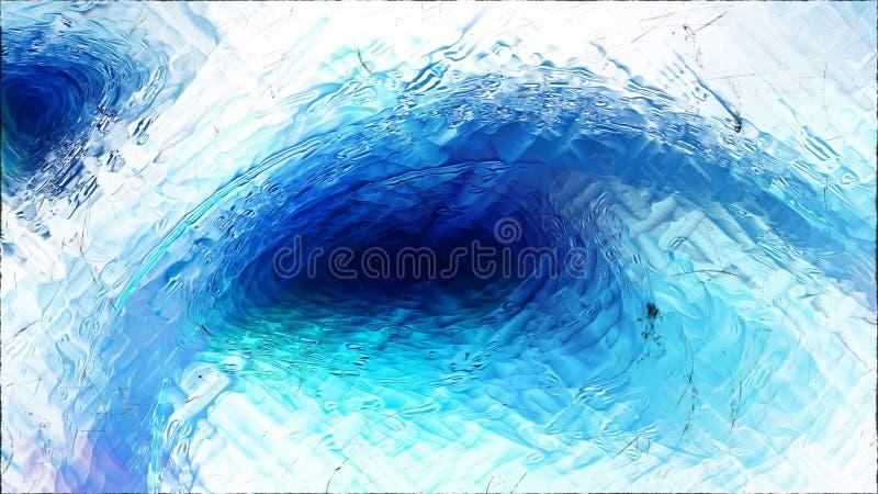 Abstrakter blauer und weißer Glaseffekt-Farben-Hintergrund stock abbildung
