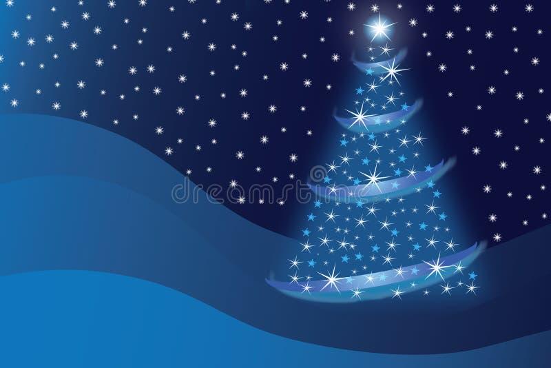 Abstrakter blauer Weihnachtsbaum lizenzfreie abbildung
