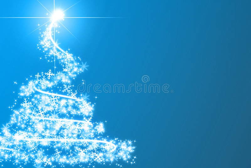 Abstrakter blauer Weihnachtsbaum vektor abbildung