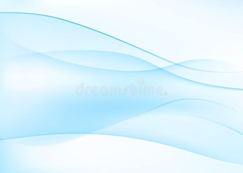 Abstrakter blauer wellenförmiger Hintergrund stock abbildung