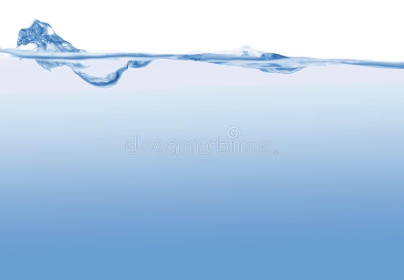 Abstrakter blauer Wellenhintergrund lizenzfreie stockfotos