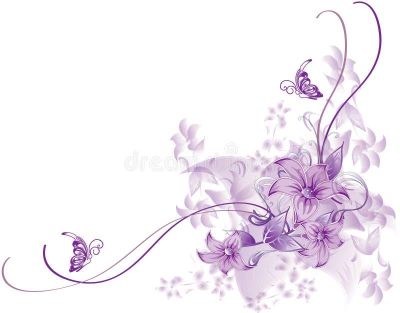 Abstrakter Blume Abbildungblumen-Frühlingssommer vektor abbildung