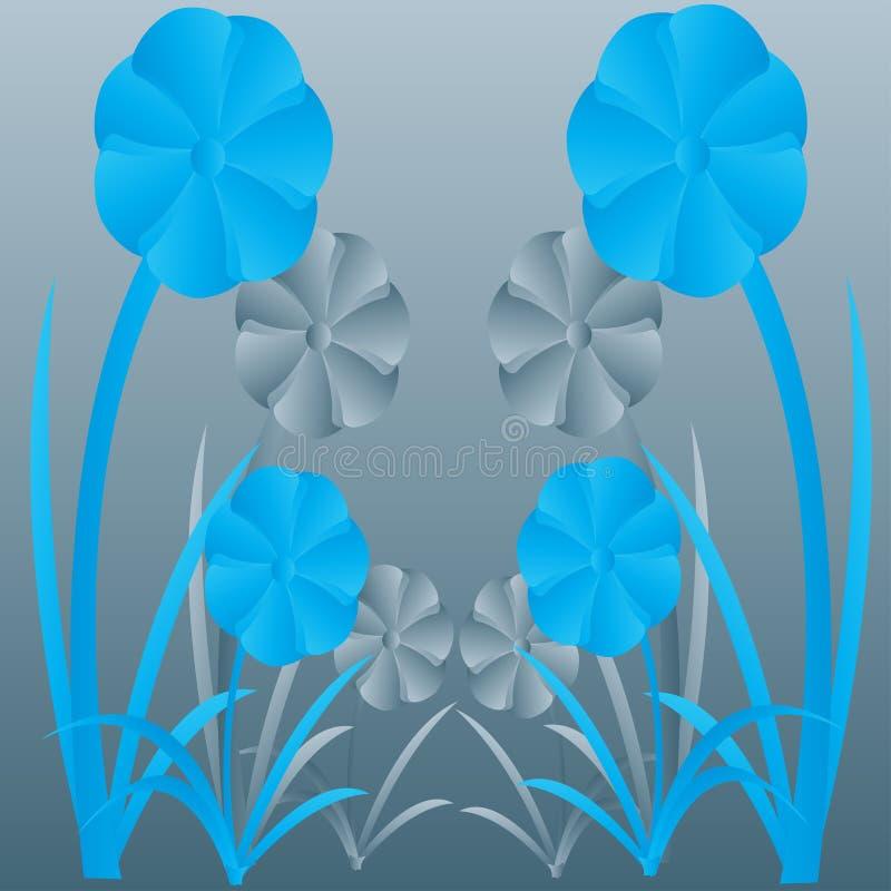 Abstrakter Blumenhintergrund lizenzfreie abbildung