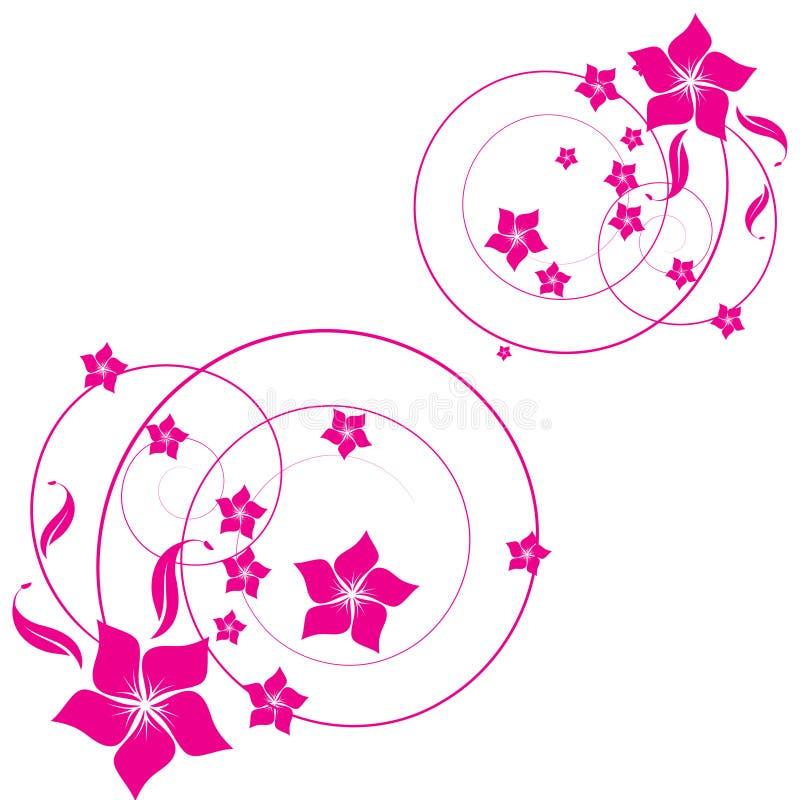 Abstrakter Blumenhintergrund mit lizenzfreie abbildung