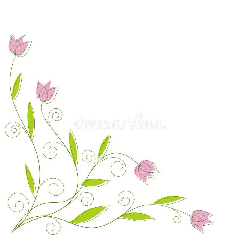 Abstrakter Blumenhintergrund mit Platz für Ihren Text vektor abbildung