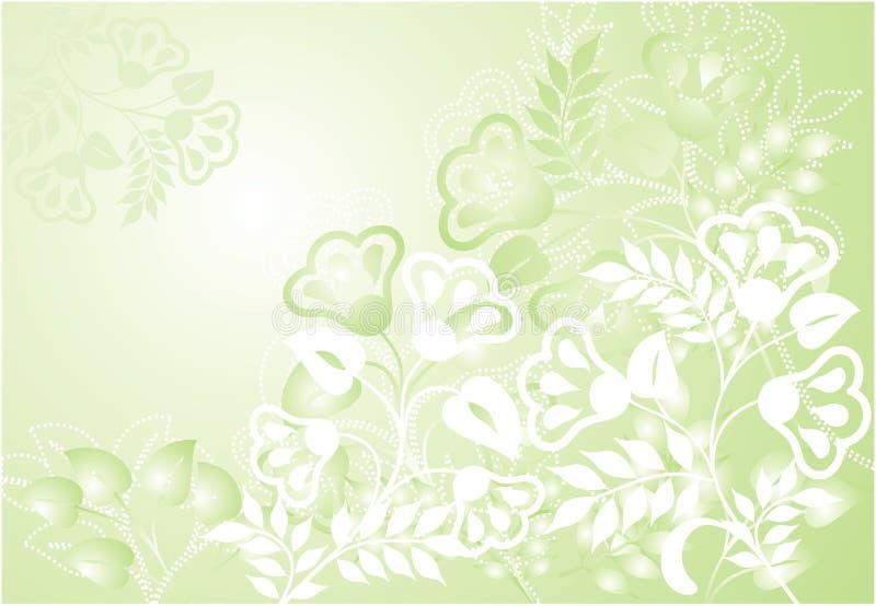 Abstrakter Blumenhintergrund, Vektor lizenzfreie abbildung