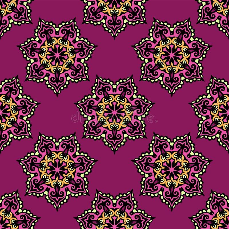 Abstrakter Blumenvektorhintergrund nahtlos lizenzfreie abbildung