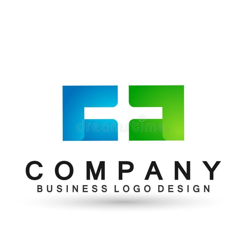 Abstrakter Buchstabe C und d-Logoentwurfsvektor im Element für Firma auf weißem Hintergrund vektor abbildung
