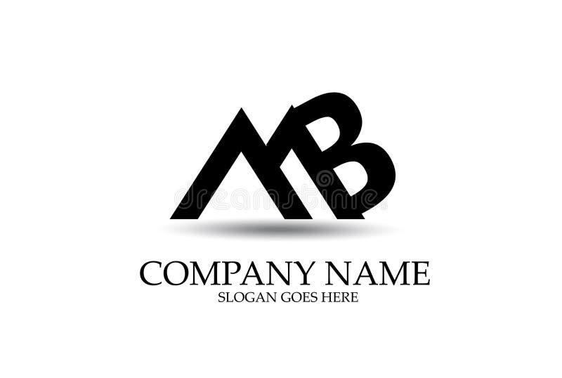Abstrakter Buchstabe MB Logo Design Vector stock abbildung