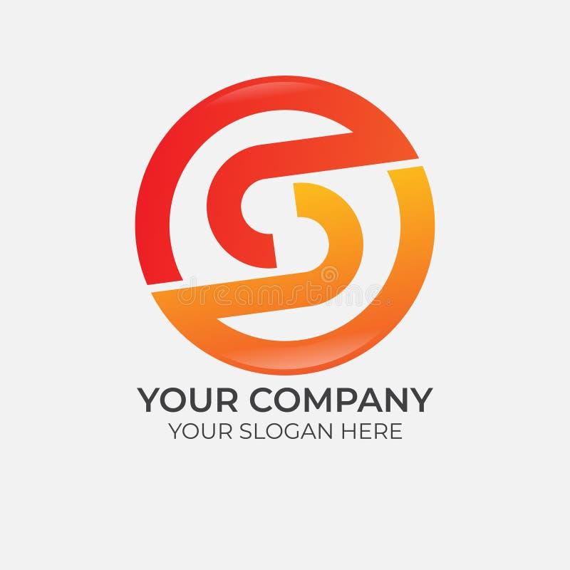 Abstrakter Buchstabe S Logo Design lizenzfreie abbildung