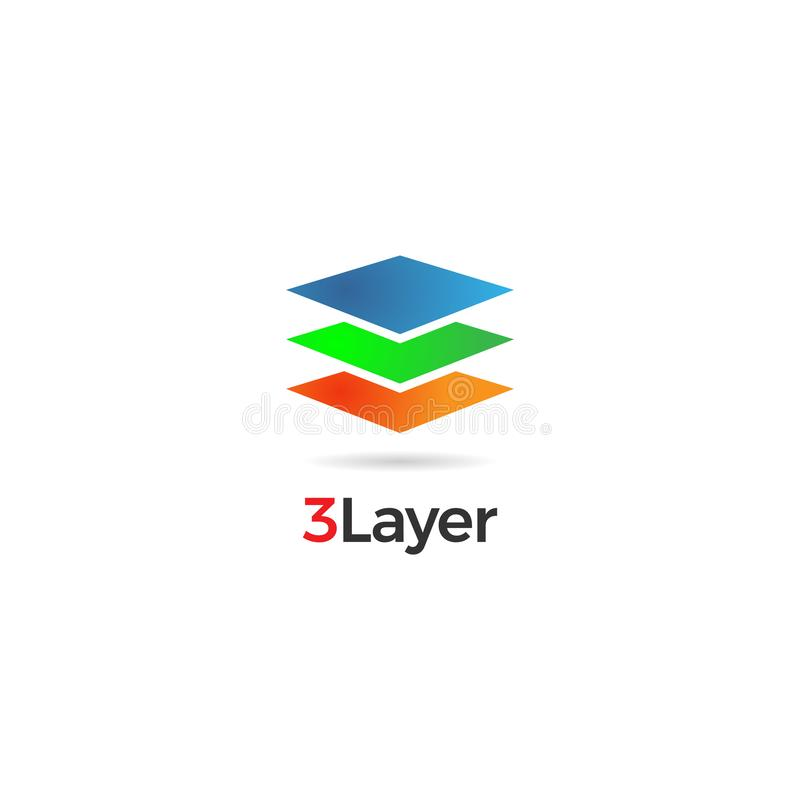 Abstrakter bunter überlagerter Logo Sign Symbol Icon lizenzfreie abbildung